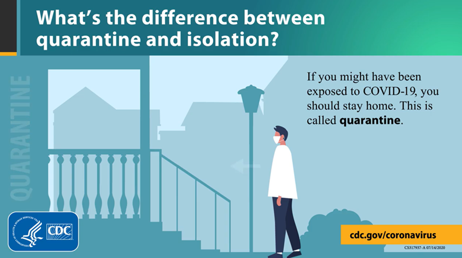 what's the difference between quarantine and isolation