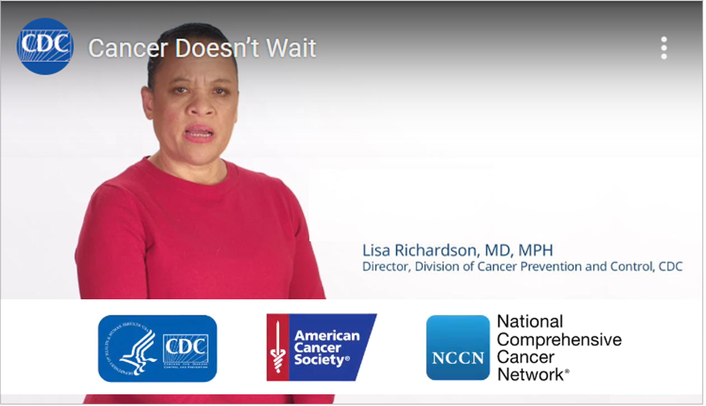 Cancer Doesn't Wait video image