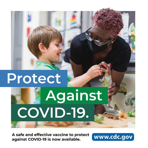 Protect against COVID-19, A save and effective vaccine to protect against COVID-19 is now available